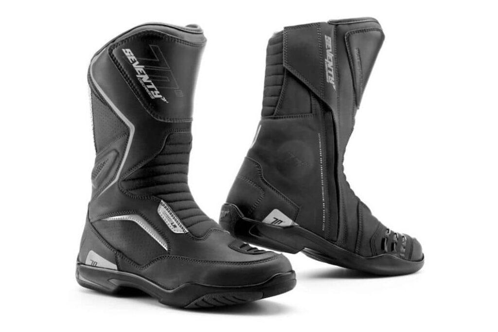 botas negra corredor moto