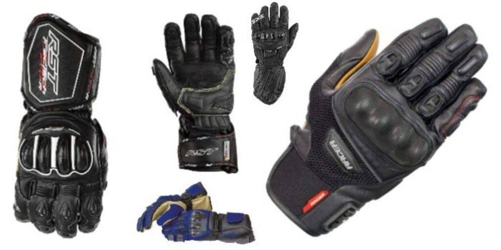 usar guantes motociclista