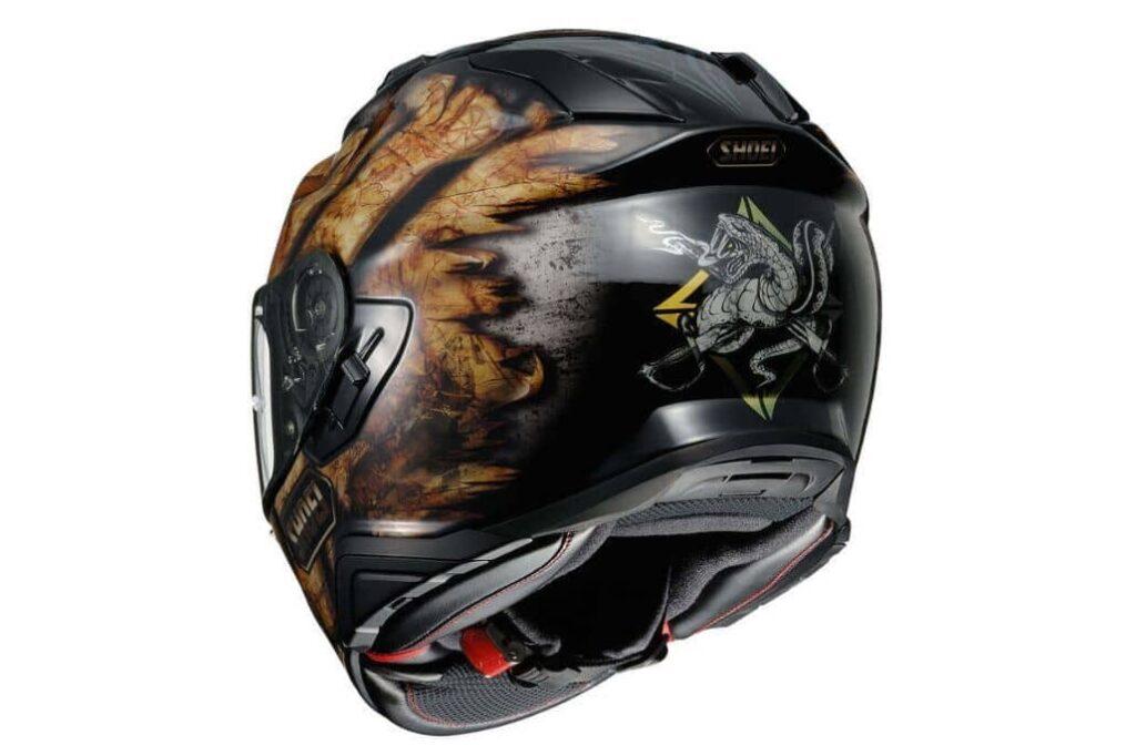 casco negro shoei