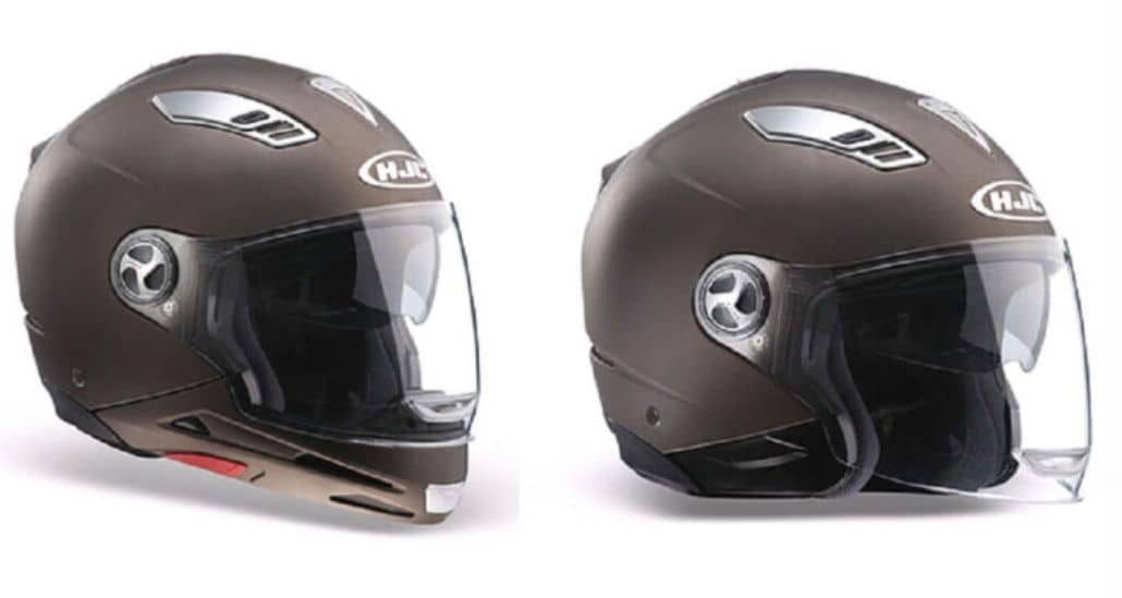 casco mentonera desmontable