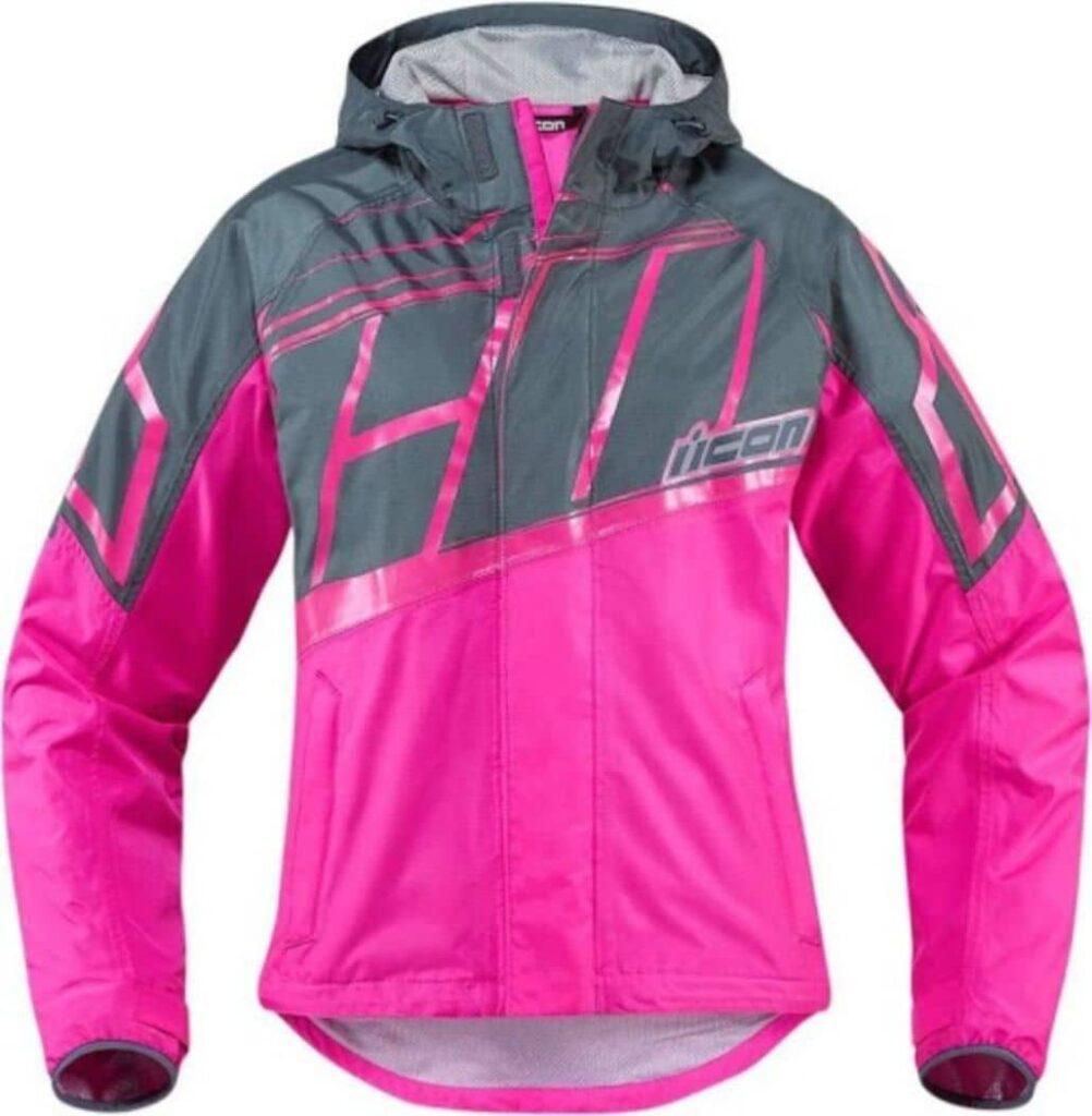 chaqueta rosa negra