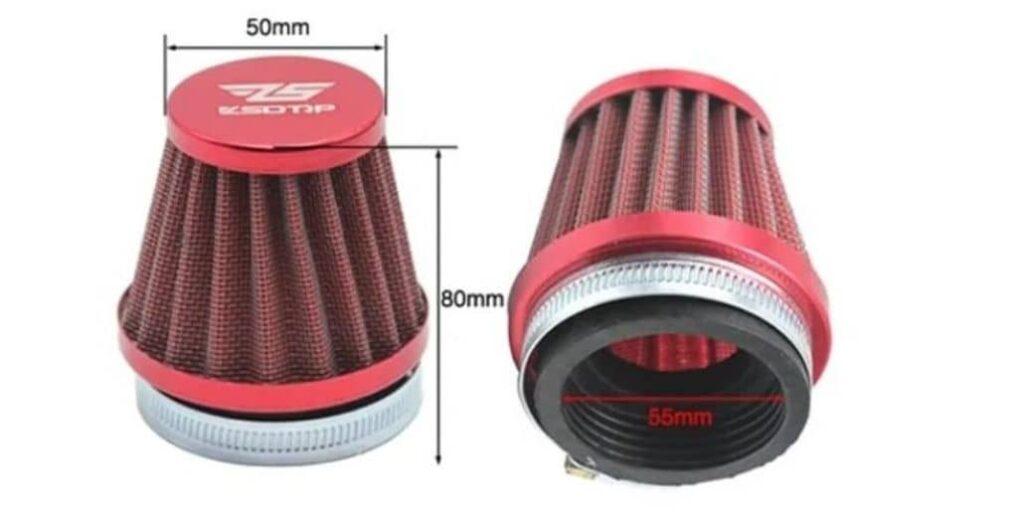 ejemplo filtro aire moto