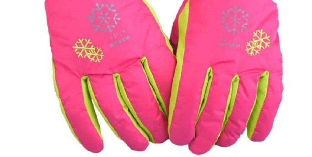 guantes rosas