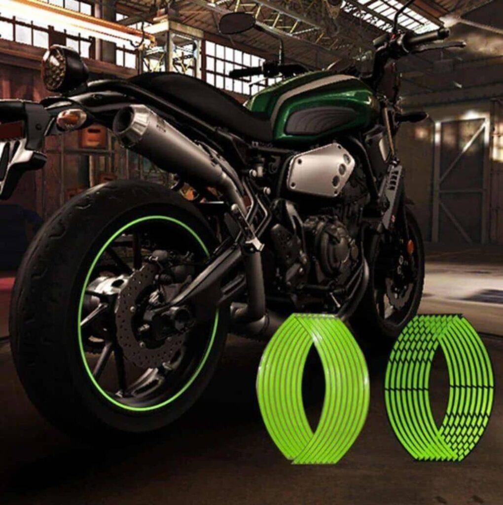 pegatinas verdes reflectantes