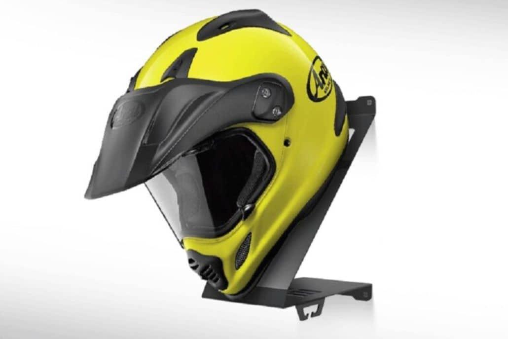 soporte casco motociclista