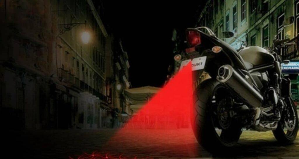 luz roja moto