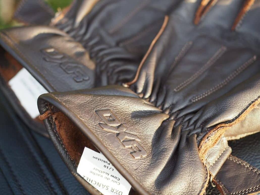 guantes cuero marron